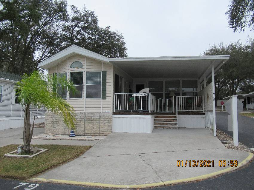 Zephyrhills, FL Mobile Home for Sale located at 39146 Otis Allen Road, Lot 79 - Water's Edge Rv Resort